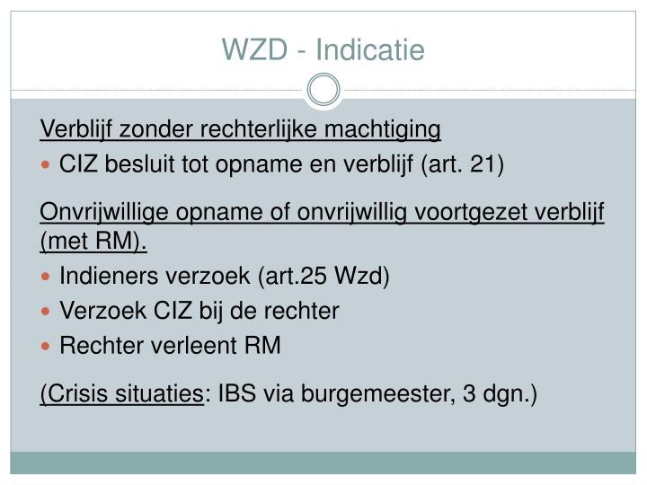 WZD - Indicatie