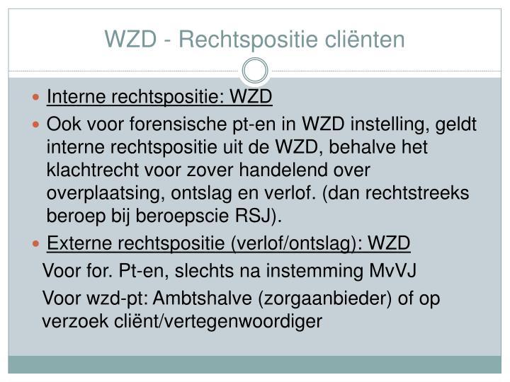 WZD - Rechtspositie cliënten