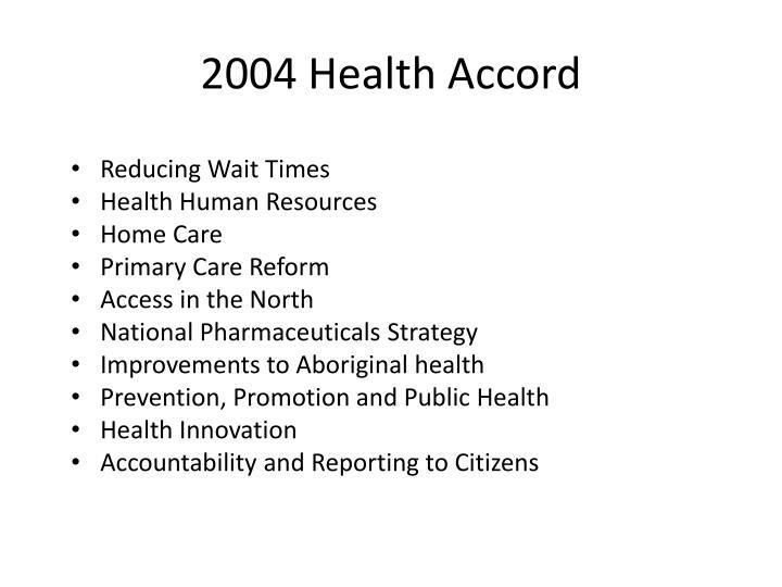 2004 Health Accord
