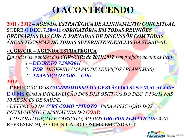 O ACONTECENDO
