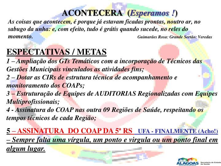 ACONTECERA  (