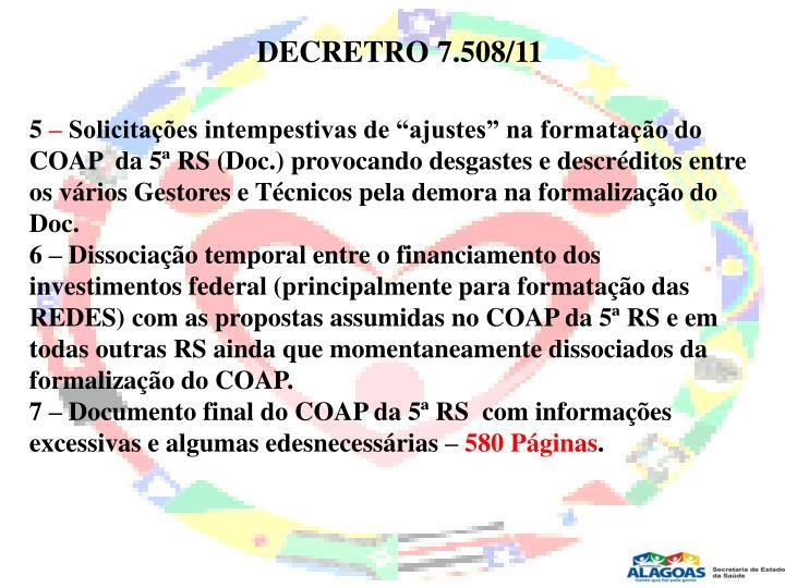 DECRETRO 7.508/11