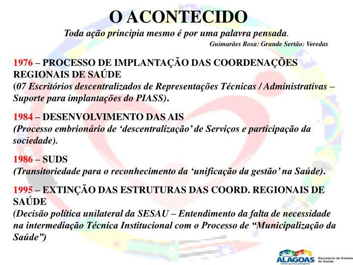 O ACONTECIDO