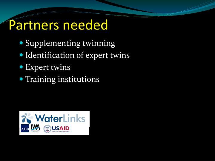 Partners needed