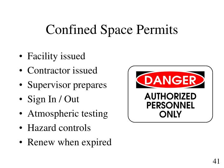 Confined Space Permits