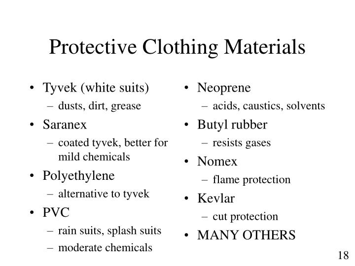 Tyvek (white suits)
