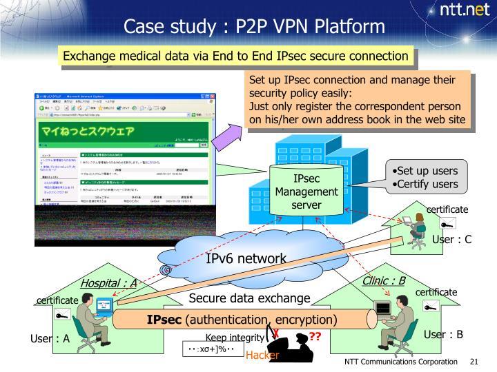 Case study : P2P VPN Platform
