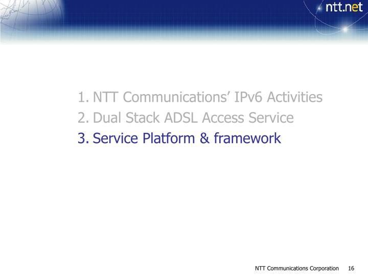 NTT Communications' IPv6 Activities