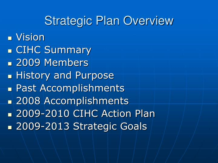 Strategic Plan Overview