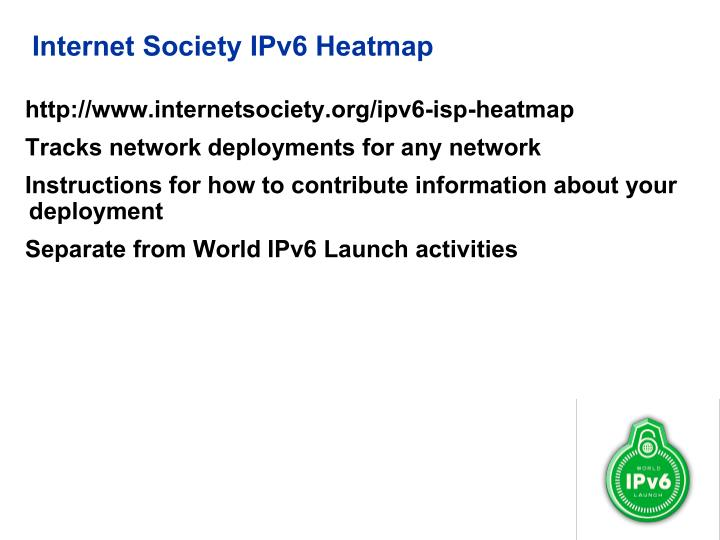 Internet Society IPv6 Heatmap
