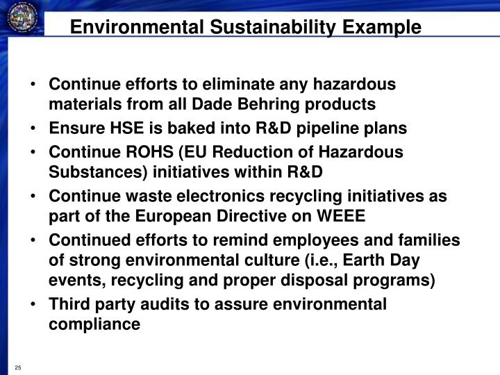 Environmental Sustainability Example