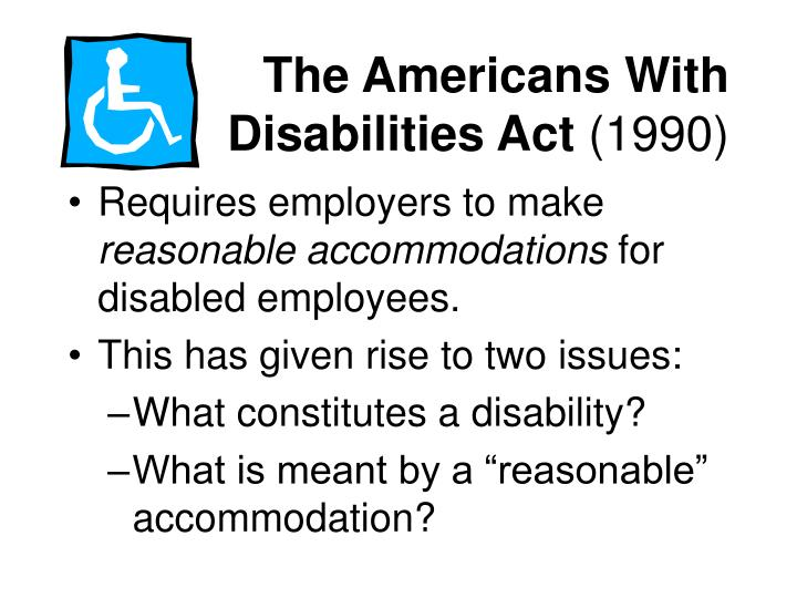 the protection of the disabled through the americans with disabilities act Millions of americans living with mental health conditions lead happy,  how  does the americans with disabilities act protect me at work.