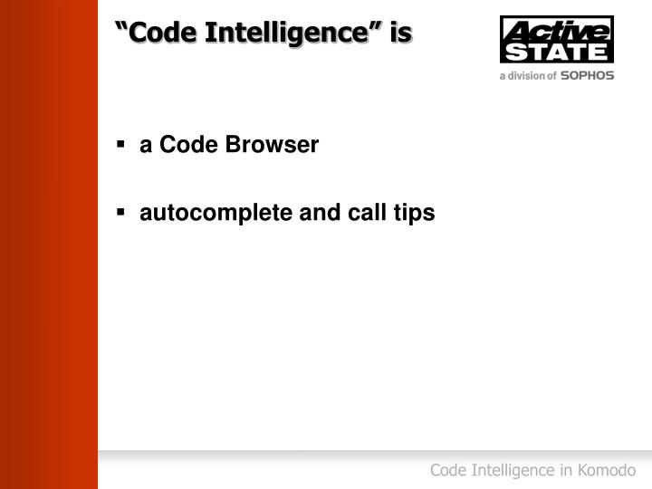Code intelligence is