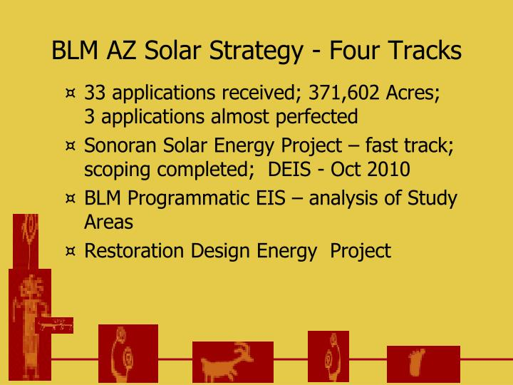 BLM AZ Solar Strategy - Four Tracks