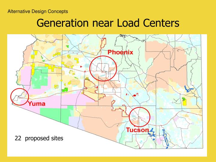 Generation near Load Centers