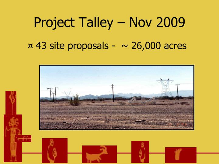 Project Talley – Nov 2009