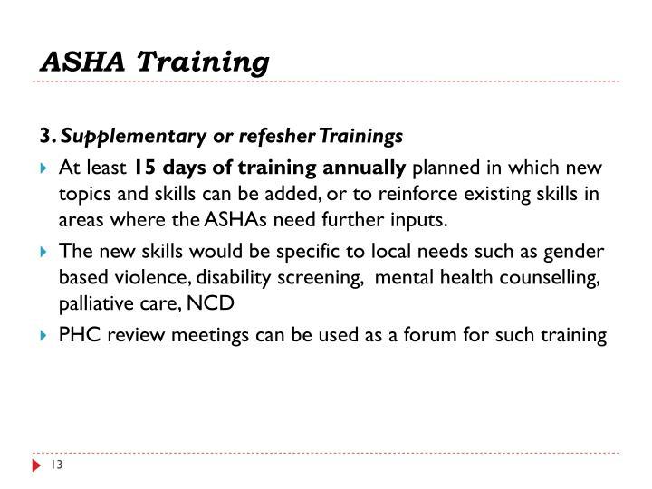 ASHA Training