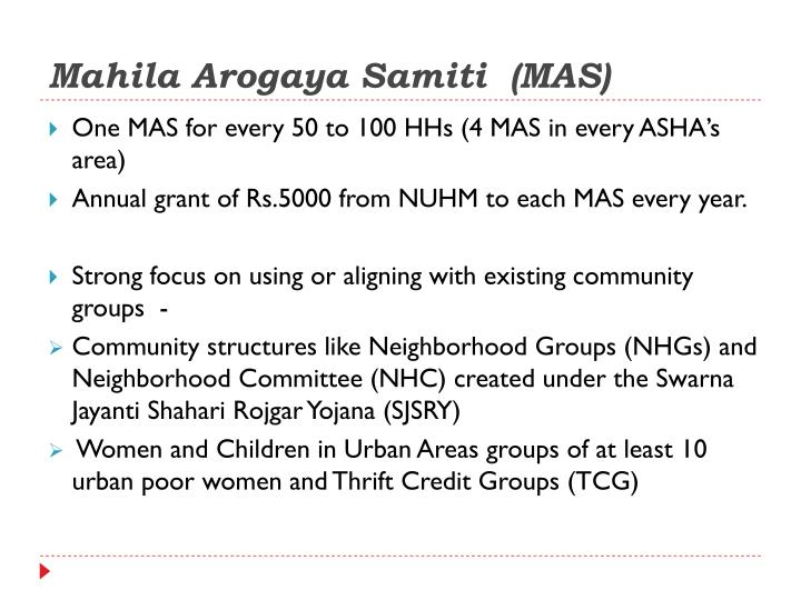 Mahila Arogaya Samiti  (MAS)