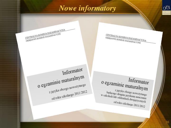 Nowe informatory