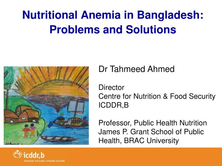 Nutritional Anemia in Bangladesh: