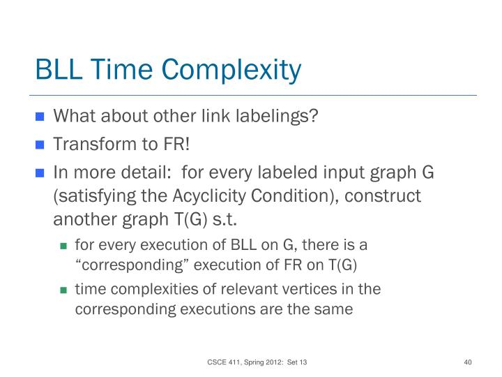 BLL Time Complexity