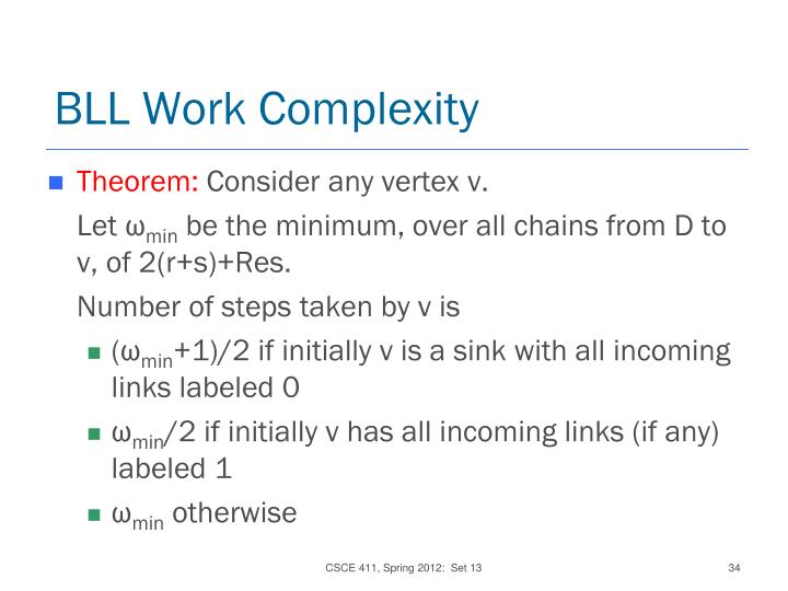 BLL Work Complexity