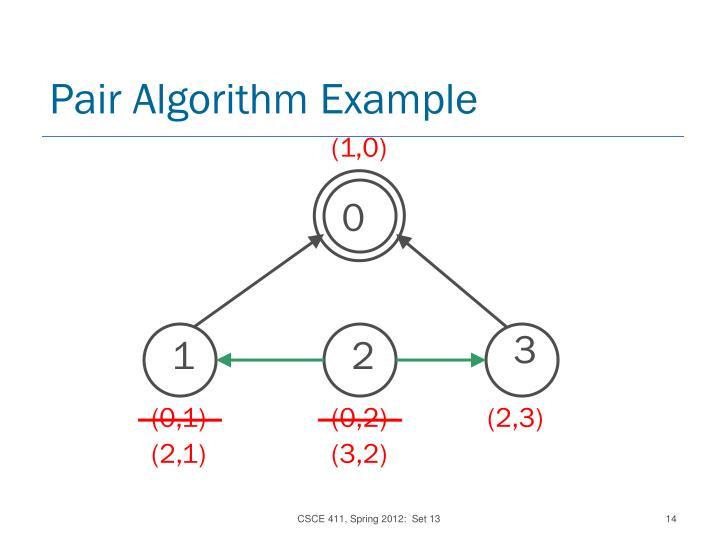 Pair Algorithm Example