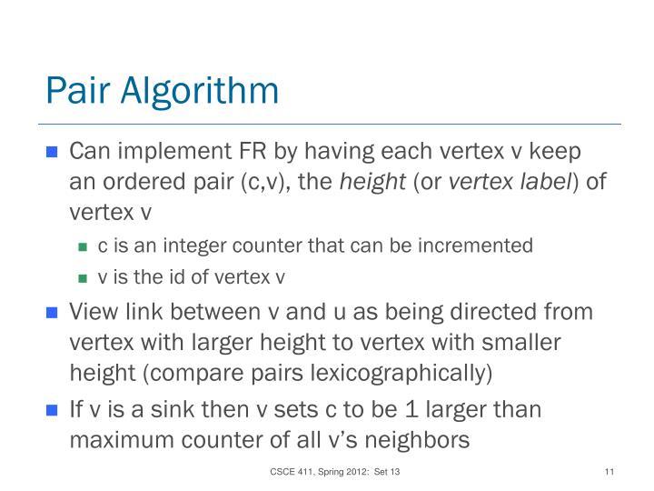 Pair Algorithm