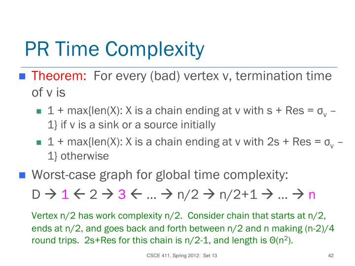 PR Time Complexity