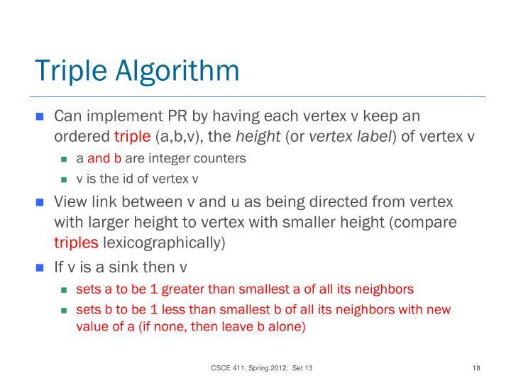 Triple Algorithm