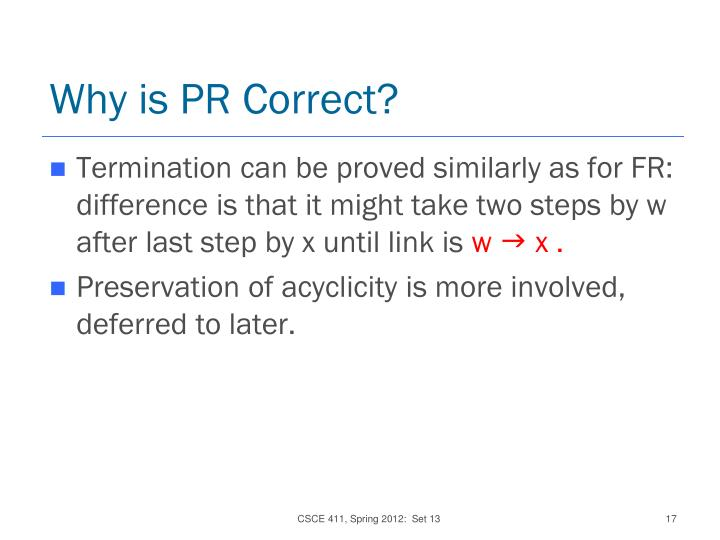 Why is PR Correct?