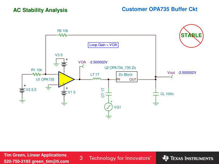 Customer opa735 buffer ckt