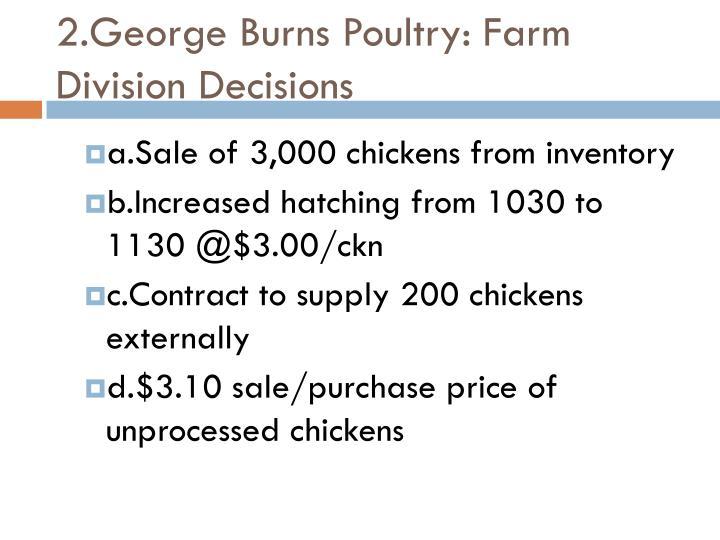 2.George Burns Poultry: Farm Division Decisions