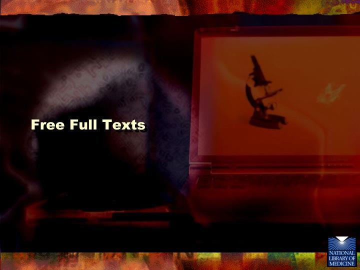 Free Full Texts