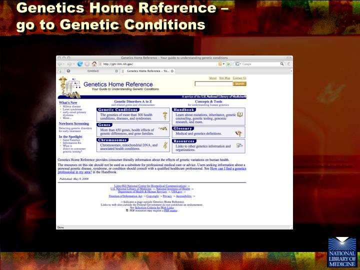 Genetics Home Reference –