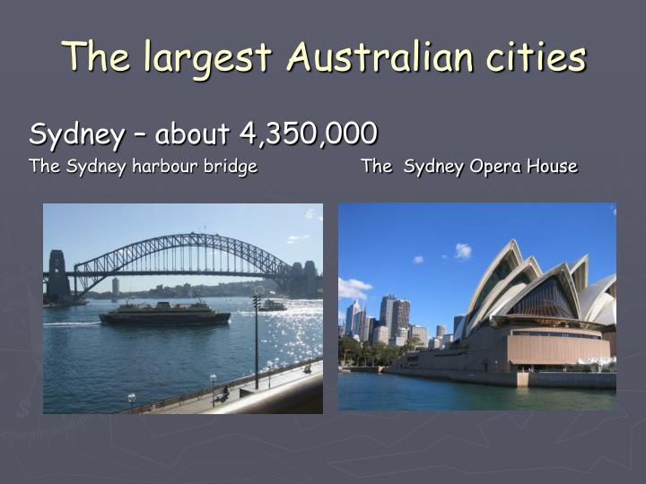 The largest Australian cities