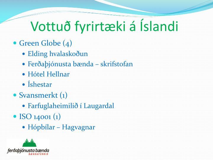 Vottuð fyrirtæki á Íslandi