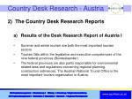 country desk research austria