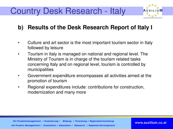 Country Desk Research - Italy