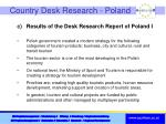 country desk research poland
