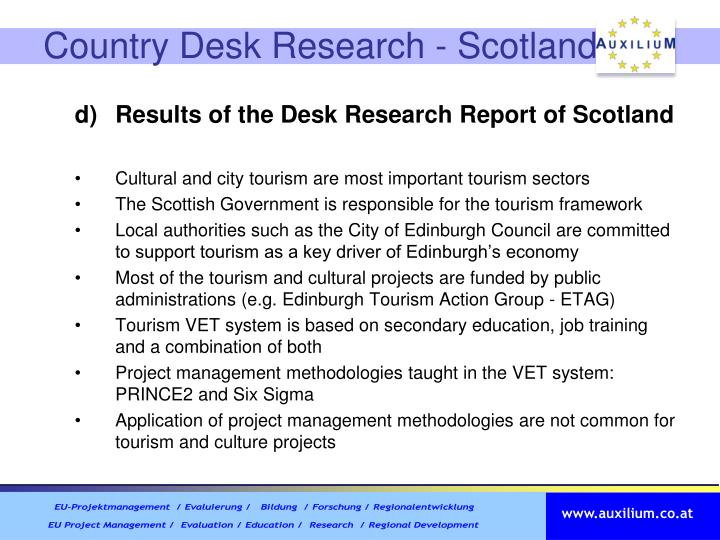 Country Desk Research - Scotland