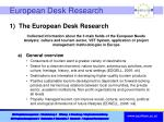 european desk research