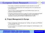 european desk research2