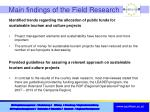 main findings of the field research4