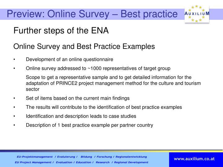 Preview: Online Survey – Best practice