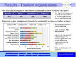 results tourism organizatons