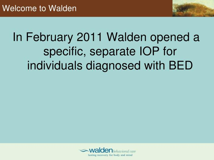 Welcome to Walden