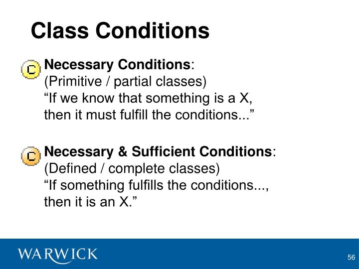 Class Conditions