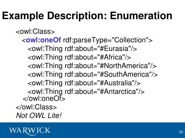 Example Description: Enumeration