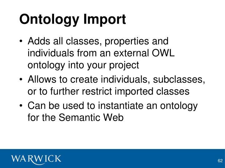 Ontology Import